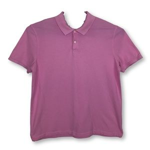 Mens St Johns Bay Pink Polo Dress Shirt Casual XL